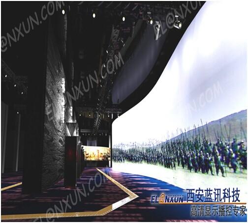 曲江新区展览馆诚邀西安蓝讯液晶广告机入