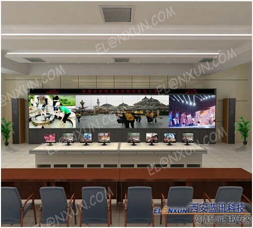 大型企业监控室液晶拼接大屏系统